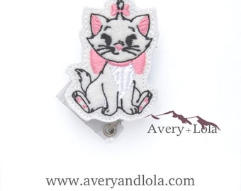Kitty Badge Reel, Kitty ID Holder, Xray Badge Reel, ID Badge Holder, Teacher Gift, Nurse Gift