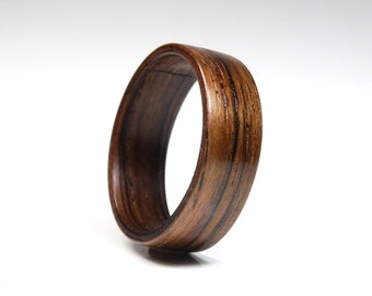 Wooden Ring - Wood ring for men from Brazilian Rosewood - wooden jewelry  - engagement ring - wood ring for women - wood ring for men