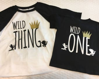 Wild Thing, Wild One, Where the wild things are, where the wild things are shirt, wild thing shirt, wild one shirt, monster, max, birthday
