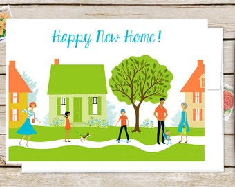 Happy New Home Greeting Card - Congratulations on Your New Home - Welcome to the Neighborhood