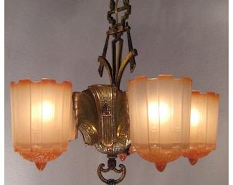 A7755 Art Deco Chandelier