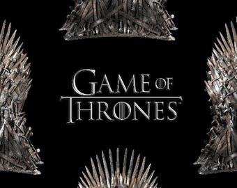 Game of Thrones The Iron Throne Cotton Fabric by the yard