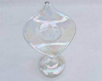 Vintage iridescent glass jack in the pulpit vase