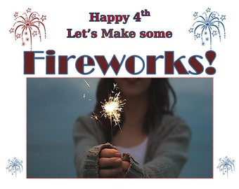 4th Of July Printable, Independence Day Print, Fireworks Letu0027s Make  Firework Wall Art,