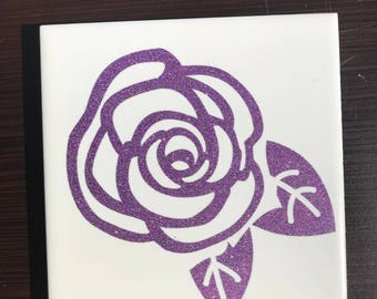 Purple Flower Coaster