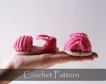 CROCHET PATTERN - Open Toe Baby Sandals Crochet Pattern Boots Pattern Booties Pattern Summer Baby Shoes Cute Sandals 0-12 months PDF - P0031
