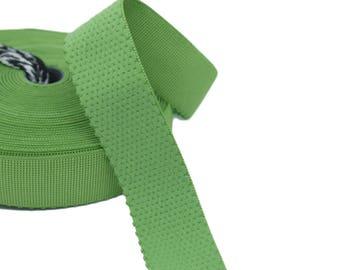 "3 yds Green Plush Back Waistband Elastic - 1"" wide (AC36)"