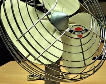 Vintage Fan - Condumé TF 12 :  60's , 70's Design ( Works Perfectly and is in Very Good Condition ) !!!