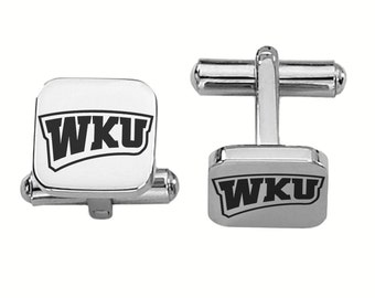 Western Kentucky University Hilltoppers WKU Cuff Links   College Cufflinks   Custom Cufflinks   Officially Licensed