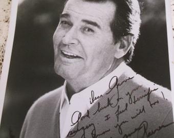 James Garner Inscribed Signed Photo 1989
