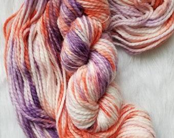 Phoenix Sunset, BULKY hand dyed yarn (50% superwash merino wool, 50 nylon; 110 yards, 100g)  indie dyed yarn