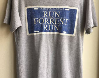 vintage bubba gump forrest gump movie t- shirt/Free Shipping