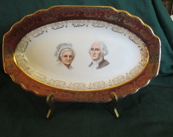 George Amp Martha Washington Tea Cup And Saucer Made By Capsco
