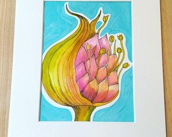 Flower botanical N4