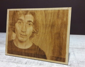 Photo engraved on the wood, photo engraving, Personalized gift, Valentines gift