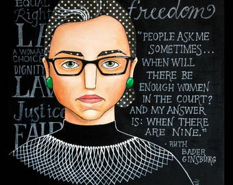 Ruth Bader Ginsburg RBG dissidence impression