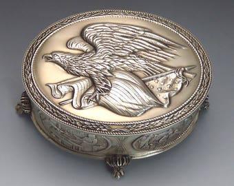 Franklin Mint Sterling Silver Commemorative Bicentennial American Freedom Box