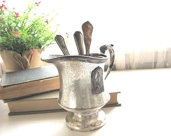 Vintage Silver Plate Creamer Vintage Hotel Silver Creamer from AllieEtCie