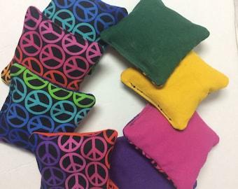 Sensory Bags, Mini Cornhole Bags, Rainbow Bean Bags, Mini Bean Bags, Rainbow Cornhole Bags, Sensory Bags, Mini Bean Bag Toss, Kids games