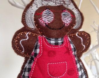 Felt gingerbread man, gingerbread tree ornament, Christmas decoration, gingerbread man, tree decoration, gingerbread men, Christmas tree.