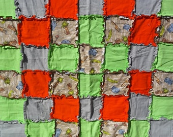Jungle Fever Flannel Rag Quilt