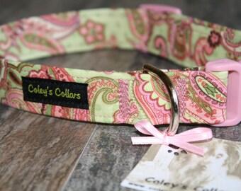 """Dog Collar, Dog Collars, Paisley Dog Collar, Girl Dog Collar, Female Dog Collar, Boy Dog Collar, Modern Dog Collar, 'The Polka Paisley"""""""