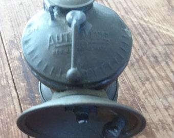 Vintage Auto Lite Universal Lamp Co. Brass Miner's Lamp