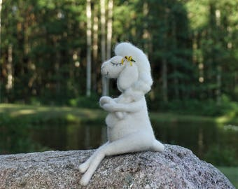 needle felted sheep, needle felted art doll, sheep, OOAK doll, needle felted animal, gift, cute sheep, handmade, wool felt, felted wool