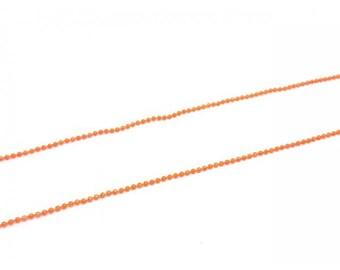 5 m balls 1.5 mm, color Orange ball chain