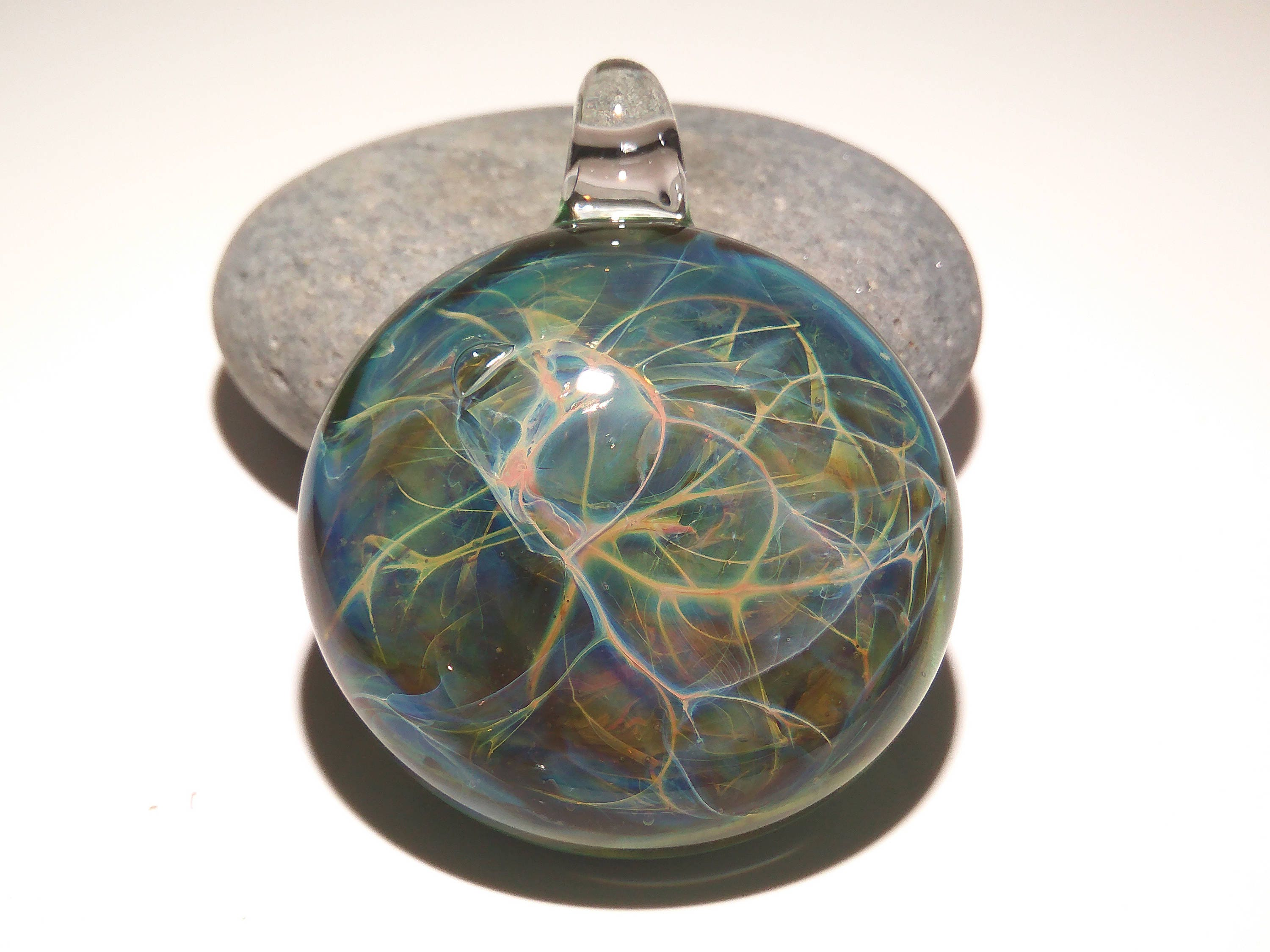 t glass pin blown pendant l hand i g h light seeded