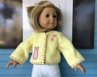 18 Inch Doll Clothes - Easter Bunny Rabbit Fleece Jacket - Coat -
