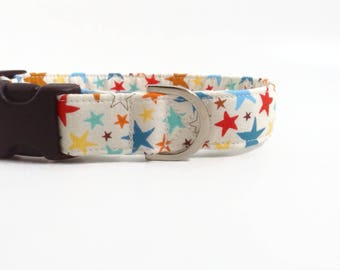 Cream Star Dog Collar | Dog Collar | Puppy Collar | Girl Dog Collar | Boy Dog Collar | Stars Dog Collar | Male Dog Collar | Small Dog Collar