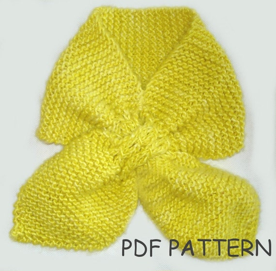 Knitting Pattern Toddler Ascot Scarf Knitting Pattern Pdf From