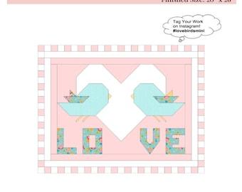 Love Birds Mini Quilt Pattern pdf