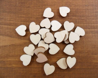 "Wood Hearts 1/2"" Laser Cut Wood Heart - 50 Pieces"
