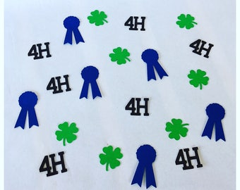 4H - 4H Clover - 4H County Fair- 4H Decor - 4H Show Hog - 4H Show Steer - 4H Party - 4H Award - Table Confetti -Award Decorations -Confetti