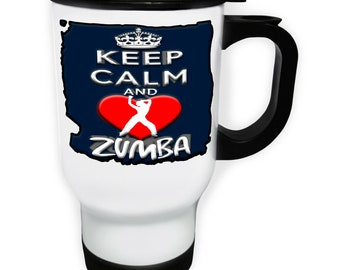 Keep Calm And Love Zombies Stainless S Travel 14oz Mug aa152t