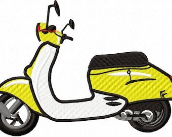 scooter  Machine Embroidery Design Vespa