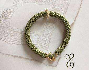 Beaded Crochet Friendship Bracelet