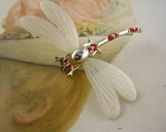 Vintage Dragonfly Libellule novelty   Retro Brooch