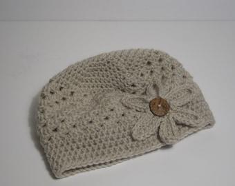 Women/Girls Hat, Crochet Girls Hat, Girls Winter Hat, Baby Girl, Crochet Flower Hat, Toddler Crochet Hat, Hats for Girls, Kids Hat