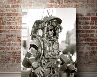 Modern Photography, Black and White Street Photography, Robot Art Print, Buenos Aires Photography, Robot Print, Recoleta, Steampunk Decor