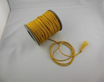 Mustard color rayon twisted cord