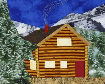 Mountain Log Cabin quilt pattern - ON SALE