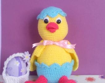peeps easter decor, Crochet Chick, Easter toys, peep chick, handmade chick, Easter gift, Easter Decor, Easter chicken, Knitted chicken,