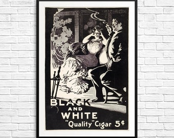 Vintage cigar ads, Cigar gifts, cigar ads, cigar posters, cigar fans, man cave art, mens decor, smoking room, smoker gifts, cigar aficionado