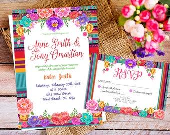 Mexican theme invite | Etsy
