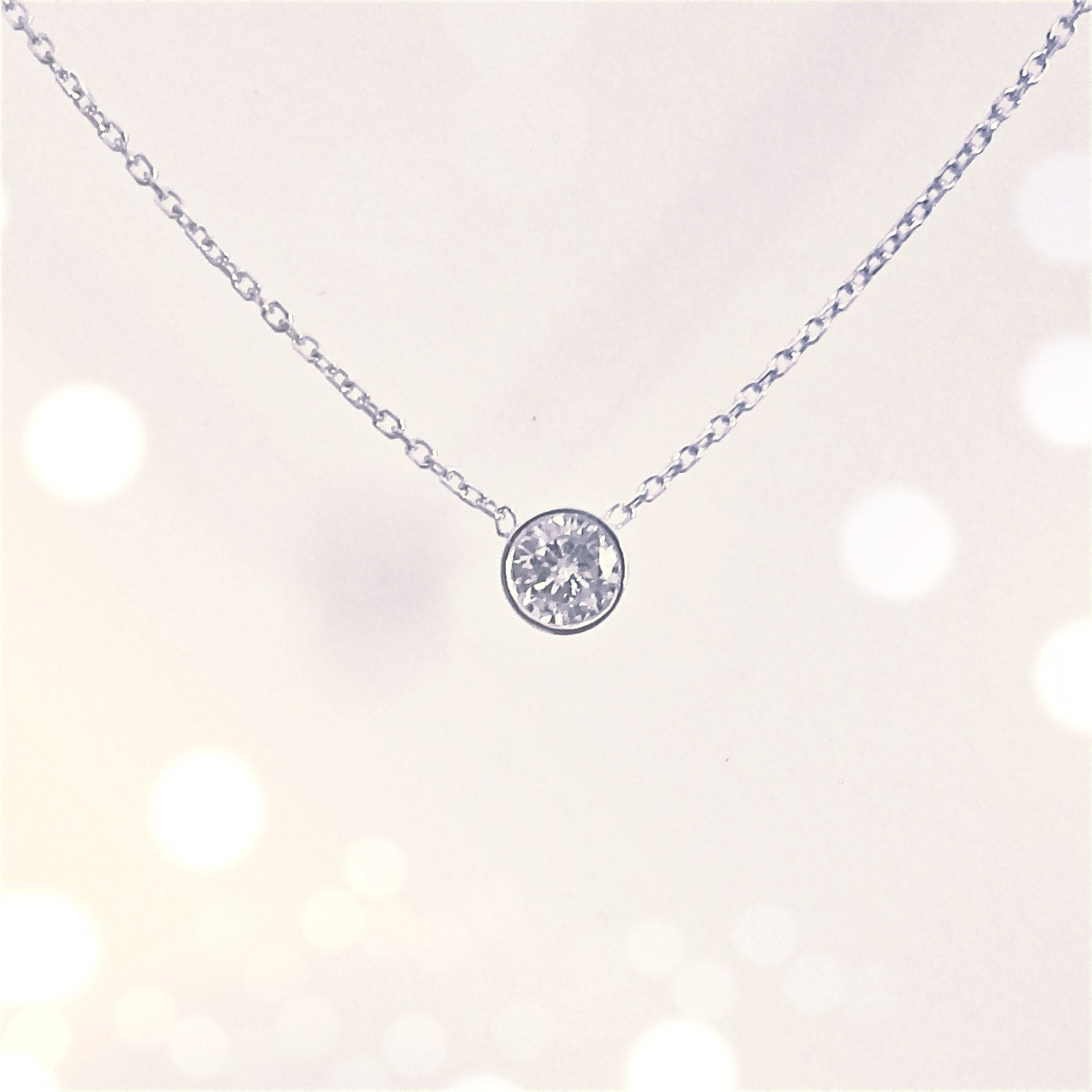 jewelry necklace bezel product white style set diamond gold collection graduated line riviera in