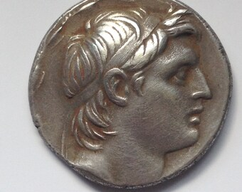 Silver Tetradrachm , Seluikid Kigdom Demetrios I Soter Ca. 162 BC