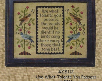 All Through the Night - Use What Talents You Possess - Counted Cross Stitch Chart - Designer Bonnie Sullivan